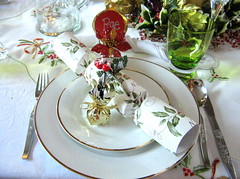 Christmas Lunch table Setting (Rachael Mermaid Queen) Tags: christmas party table setting