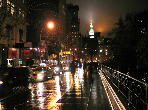 new york city rainy night