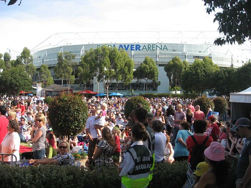 Outside Rod Laver Stadium @ Australian Open 2008