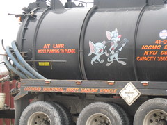 what does pinky and the brain have to do with waste removal? (agnisflugen) Tags: whimsy industrial worlddomination whimsical pinkyandthebrain wasteremoval cuzthatshowiroll