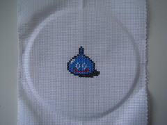 Slime (benjibot) Tags: crossstitch crafts videogames nes dragonwarrior