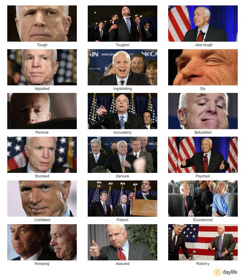 The Many Moods of John McCain - Daylife
