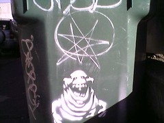 Septagram Slimer (The Kozy Shack) Tags: streetart graffiti stencil s ghostbusters slimer