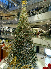 A modern Christmas (unlimited inspirations) Tags: lighting christmas winter decorations light red tree green love festival wall silver buildings mall shopping stars fun happy hongkong gold design asia flickr colours interior shoppingcentre christmastree best celebrations colourful ifc forgettable lightings  hkcentral   unlimitedinspirations