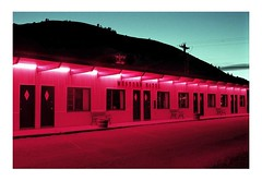 Western Motel in Pink (Jeep Novak!) Tags: new travel pink blue light shadow red usa holiday art love night dark underground fun cool colorado day spirit motel icon ishootfilm hidden upper american collapse americana deviant sociology humaninterest edwardhopper devastated lifeasart jeepnovak adoublefave llovemypics reflectyourworld