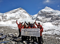 Everest base camp goal reached !