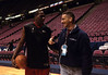 With Elton Brand. Meadowlands Arena. 2001
