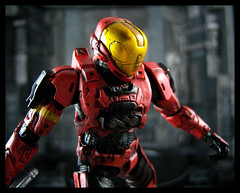 McFarlane Halo 3 Series 1 - Red EVA Spartan (Ed Speir IV) Tags: toys eva action halo figure spawn spartan mcfarlane