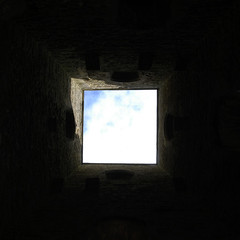 wee bit of blue in a square of light (stillmotionimage) Tags: light sky square lookingout glastonburytor upandout weebitofblue