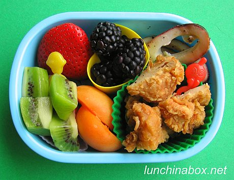 Japanese fried chicken bento lunch