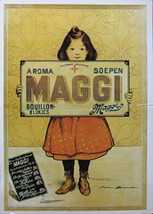Maggi postcard (purpi_purp) Tags: girl illustration vintage postcard advertisement notmyphoto reprint