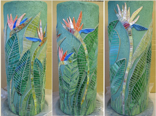 Bird of Paradise column – from recycled pool filter