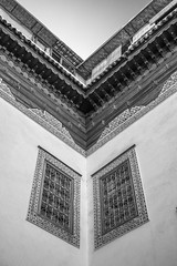 illusion (jen.ivana) Tags: building house black illusion home morocco marrakech riad museum window wall sun roof
