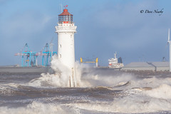 Storm Doris, hits Merseyside (davenewby123) Tags: stormdoris lighthouse rock seascape breaking waves newbrightonlighthouse perchrock newbrighton bigwaves strongwinds merseyside rivermersey unitedkingdom uk canoneos6d big sunset sunrise strongwinsbigwaves davenewby tower architecture outdoor sea sky depth field serene dusk water landscape shore beach seaside coas hydride hightides wave boat vehicle davidnweby