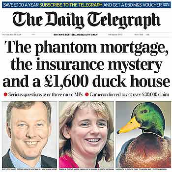 Finally: a duck makes front page news!