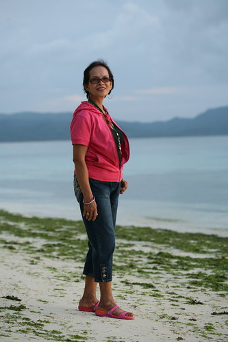 my Mom at Station 3 Boracay