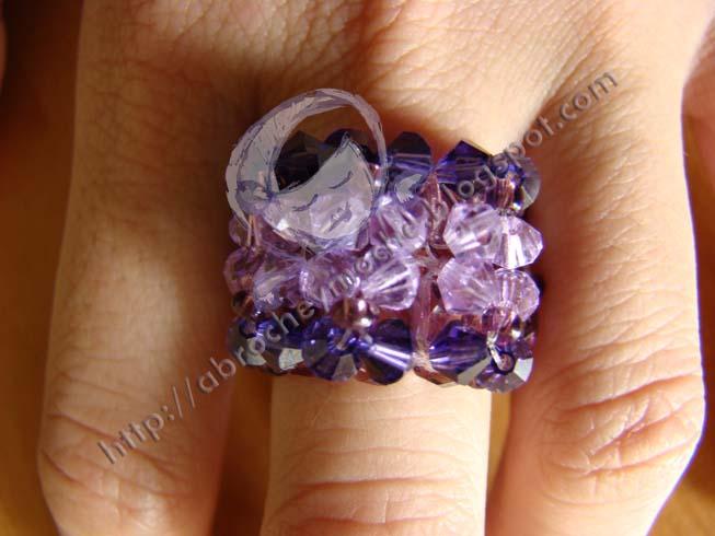 artesanía bilbao anillo swarovsky