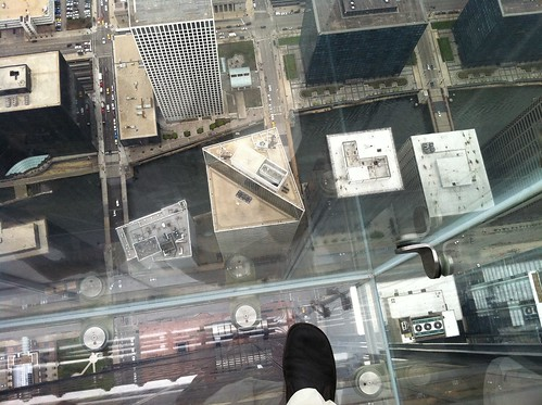 Looking Down: View from the Willis Tower in Chicago