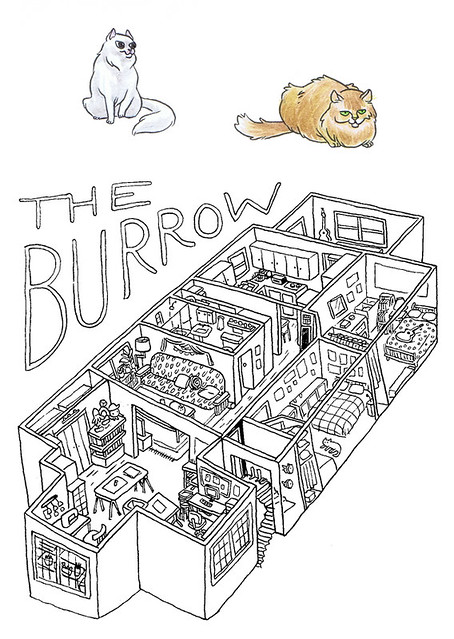 Thought i d do a little unscientific floorplan of the burrow a la