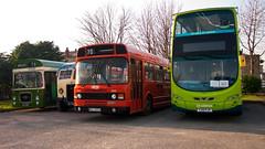 Leyland Panther LHL 164F - Albion CX13 GWT 630 - L eyland National Mk2 NKU 245X - Volvo Wright H43/23F YJ13 FKF (Lucans Pics) Tags: bus museum march volvo national mk2 wright hybrid panther 630 nku albion leyland 2014 fkf lhl gwt dewsbury ravensthorpe cx13 gwt630 lhl164f nku245x 245x 164f yj13 yj13fkf h4323f