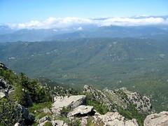 Depuis la trace cairnée vers Bocca di Funtanella: vue versant Ortolu