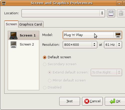 Fig. 3 - Installazione - menu scelta modello monitor