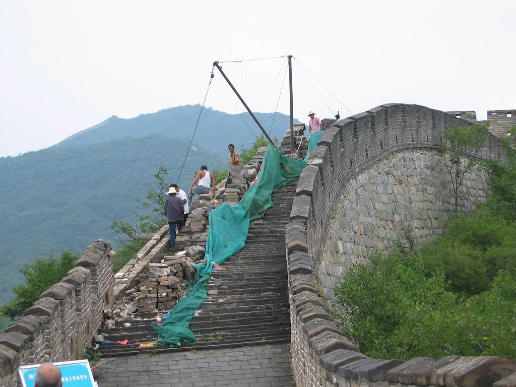 Repairs Along the Great Wall of China