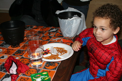 Spider Aidan & His Healthy Dinner