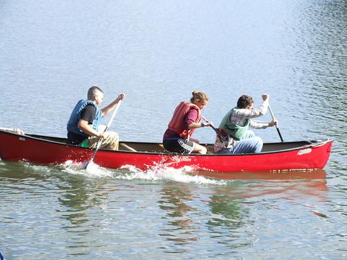 canoe tug-o-war