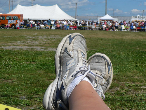 My feet at the Scottish Games in 2007.