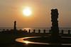 Sun-rise-3 (sanmang610) Tags: morning red sea orange sun india seascape beach water horizontal sunrise landscape seaside ray shine pillar silhoutte vizag