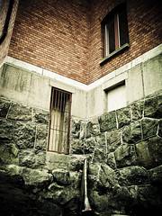Bricks and bars (gothicburg) Tags: brick architecture dark gteborg bars sweden gothenburg masonry dragan lightroom olympusc5050z annedal