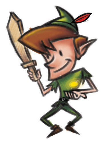 PeterPan Cartoon Coquettish Character