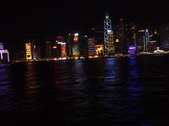 香港、フェリーからの夜景