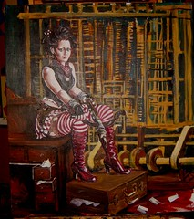 red (slurkflickr) Tags: sanfrancisco red portrait dreadlocks painting punk boots gothic goth victorian computing hacker greatamericanmusichall gears crossbow eff steampunk babbage differenceengine retrofuturism punchcard analyticalengine fivediamond edwardianball suzanneforbes brassgoggles fiveanddiamond steamgear weirdwest defendingtheelectronicfrontier