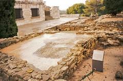 Roman Mosaic (Brisan) Tags: travel espaa greek design spain ancient ruins europa europe floor roman mosaic espana flooring archeology dig excavation empuries empurias empries ampurias greckoromano