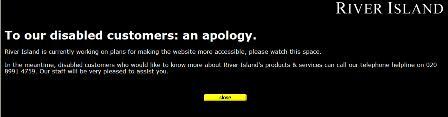 River Island apology