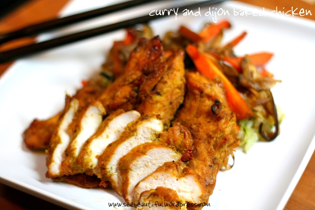 Curry and Dijon Baked Chicken | See Beautiful