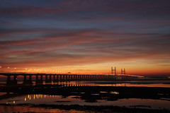 Second Severn Crossing (Colin Hodges) Tags: bridge canon bristol geotagged 300d dusk severn geo:lat=51572103 geo:lon=2664232