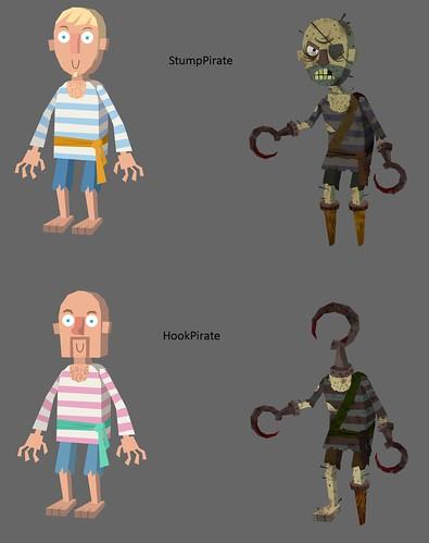 Hook Pirate - Stump Pirate