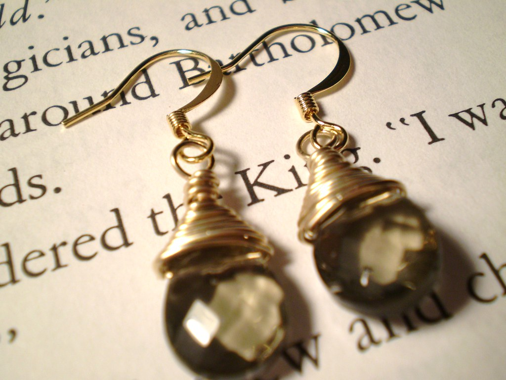 Gold Filled Wire Wrapped Earrings
