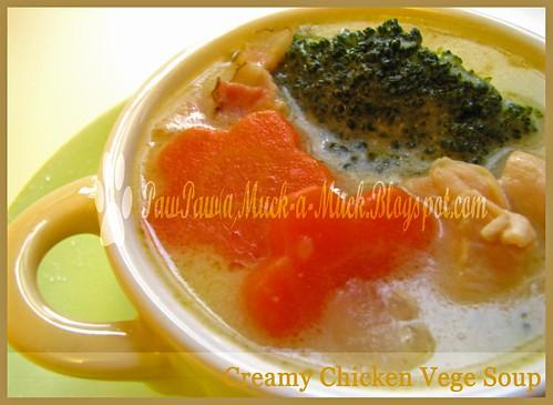 Creamy Chix Vege Soup