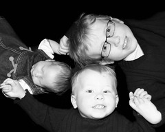 my kiddos (Ule (Photography By)) Tags: family boy blackandwhite baby girl three brothers sister siblings ule