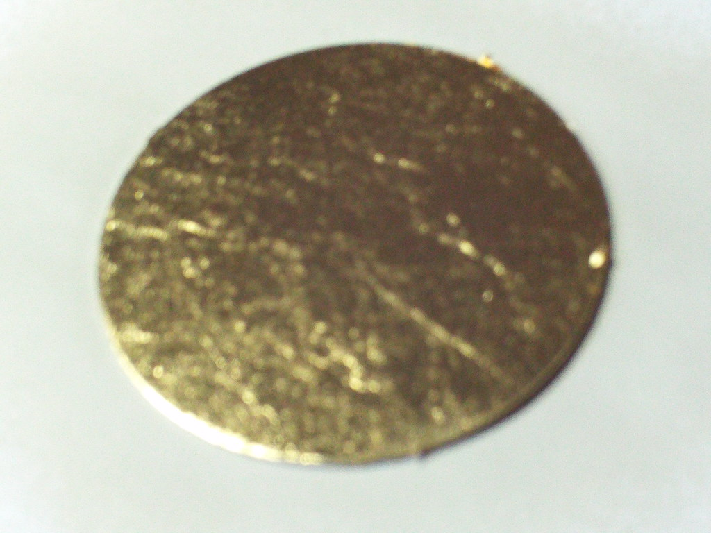Gold Coin Prior to Laser Engraving