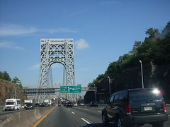 Entering the bridge (wnjl) Tags: newyorkcity newyork newjersey georgewashingtonbridge