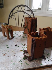 Gingerbread Castle (yummysmellsca) Tags: sweet cooking baking yummy yum vegetarian cookies ginger gingerbreadhouse castle vegan medieval food edible comestible