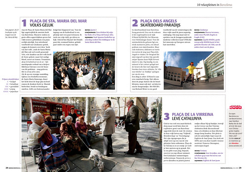 ANWB REIZEN, The squares of Barcelona. Pages 3&4.