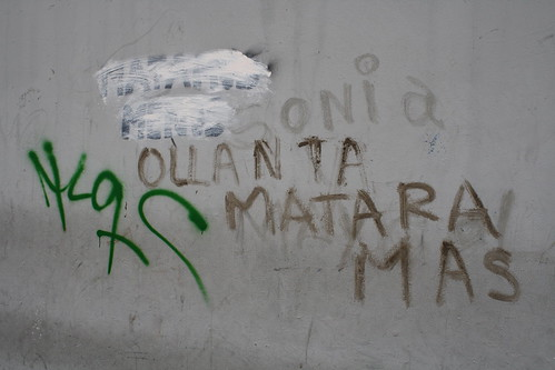Anti-Humala graffiti