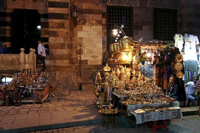 エジプト、カイロ、夜のスーク