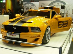 The kill bill's mustang :p (hunterlord77) Tags: show paris france car wheel yellow grey bill kill voiture mustang hook rim tuning killbill capot 59 roue nikoncoolpix jante lebourget paristuningshow octobre2007 hunterlord77 expovoituretune voituretune